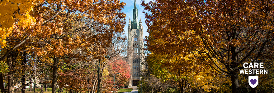 Middlesex College in autumn